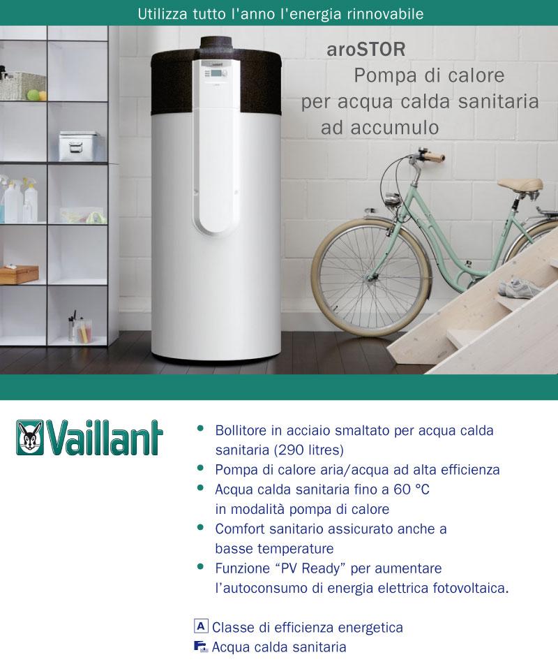 Arostor pompa di calore for Connessioni idrauliche di acqua calda sanitaria
